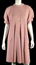 GEOFFREY BEENE Vintage Rose Pink Cotton Knit A-Line Sweater Dress 14