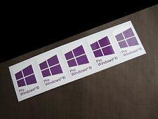 5 PCS Windows 10 Pro Sticker Badge Logo Decal for laptop desktop PC Purple color