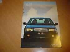 DEPLIANT Volvo S40 Belgique