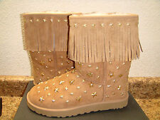 UGG AUSTRALIA JIMMY CHOO STARLIT CHESTNUT STAR STUD BOOT US 10 / EU 41 / UK 8.5