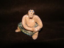 Handmade Free Hand Pottery Topless Chubby Lady Pottery Paperweight Figure