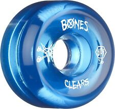 Bones 56mm SPF Skatepark Formula Clear Blue Skateboard Wheels