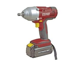 NEW- Chicago Electric 18 Volt 1/2 in. Cordless Variable Speed Impact Wrench