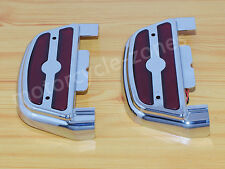 Led Light passenger footboard floorboard cover For Harley Touring Softail Dyna
