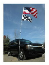 New 20' Tall Portable Flagpole AND Roll Over Tire Mount Wheel Stand