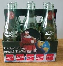 1990 Coca-Cola Coke Classic Commemorative Bottles set of 6 mixed countries enpty