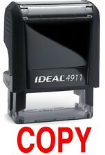 COPY text on a IDEAL 4911 Self-inking Rubber Stamp with RED INK