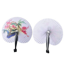 2x Paper Chinese Oriental Folding Hand Held Fans.Ideal Size  For Handbags