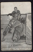 1948-49 Exhibits Sports Champion Bill Durnan Goalie Montreal Canadians Fair