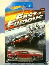 2015 HOT WHEELS FAST & AND FURIOUS DOM'S 1969 DODGE CHARGER DAYTONA RED F&F 6