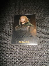 LORD OF THE RINGS Trilogy Chrome Autograph Card Autogramm signed DAVID WENHAM