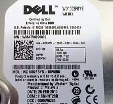 "Western Digital RE3 1TB Internal 7200RPM 3.5"" (WD1002FBYS) HDD - Dell Caddy"