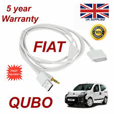 Fiat QUBO For Apple iphone 3gs 4 4s iPhone iPod USB 3.5mm Aux audio Cable white