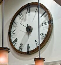Extra Large Copper Open Wall Clock Designer Openwork XL Round Oversize Horchow