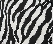 "Zebra Print Fabric 42"" Wide White Pure Cotton Crafting Fabrics By The Yard"
