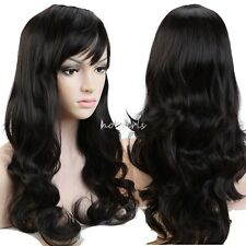 Mix Ombre Ladies Wig Long Straight Curly Full Head Wigs Cosplay Fancy Dress #P01