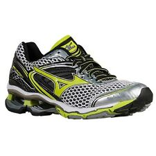 Mizuno Wave Creation 17 Men Silver Lime Running Shoes Size 9.5 New!