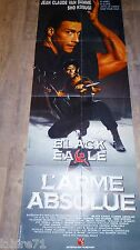 jc van damme L' ARME ABSOLUE black eagle ! affiche cinema karate