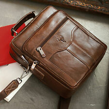 Mens Leather Messenger Bag Shoulder Bag Briefcase Cross Bag Womens Bag Vintage