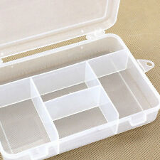 New Clear Plastic Case Container Jewelry Bead Storage Box Craft Tool Organizer