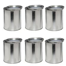 1/2 Pint Empty Steel Paint Can Round w/Lid coatings adhesives Craft Project BX/6