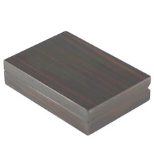 Ebony Finish Wooden Cufflink Case / Box- up to 20 Pairs - A- Grade (4091EB)