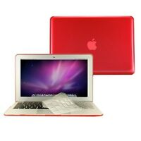 """2 in 1 Crystal RED Hard Case for Macbook AIR 13"""" A1369 with TPU Keyboard Cover"""