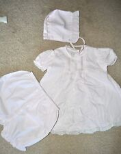 Vintage Feltman Bros. Baby 3 Pc. light Pink Dress Hat Bloomers Lace 6 Mos