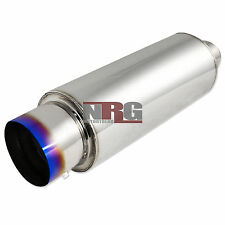 4 inch outlet Burn Tip universal stainless exhaust muffler 2.5 inch inlet N1