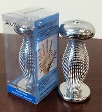 *Chrome Hand Massager*  1,560 Vibrating Spikes Help Relieve Headaches & Stress!