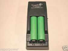 2 SONY US 18650 VTC4 30A Li-on 18650 Battery 2100mAh w/ Trustfire TR-001 Charger