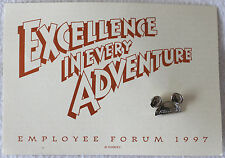 "Disney Employee Forum 1997 Mickey Mouse Ears Silver ""Excellence"" Pin - Mint"