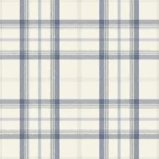 NEW CAMBRIDGE PLAID WALLPAPER - BLUE & SILVER - FD40541  FINE DECOR CHECK TARTAN