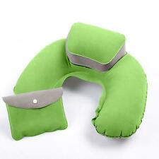 Cool Self-Inflatable Air Pillow Bed Cushion For Travel Hiking Camping Rest Green