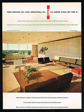 1958 Knoll Office Furniture Photo Connecticut Life Insurance Vintage Print Ad