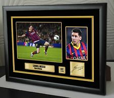 "Lionel Messi Framed Canvas Print Signed  ""Great  Gift or Souvenir"""