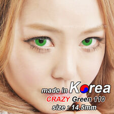 GREEN eye color contacts lenses Crazy Halloween Cosmetic Makeup Cosplay -CRY110I