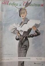 revue MODES et TRAVAUX N° 592  de 1950 -CREATION JACQUES FATH par P. MOURGUE