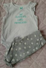 Baby girl clothes 3 months 2 pc outfit set  ~CUTE!~ Carter's daddy's princess
