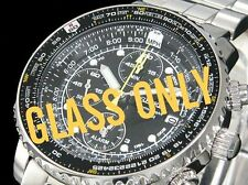 Seiko ORIGINALE GLASS CRYSTAL for FLIGHTMASTER PILOT 7t62-0eb0 sna411j1 sana41