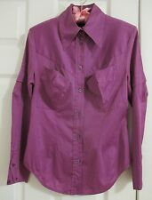 Anglomania Vivienne Westwood Pocket Blouse Top 42 4 Shirt Fuchsia Cotton