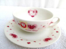 RARE..HELLO KITTY..PORCELAIN..CUP & SAUCER..JAPAN..1999..PINK ROSES..NEW