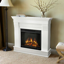 Real Flame Chateau Electric Fireplace Heater White Free Shipping