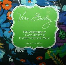 NWT Vera Bradley MIDNIGHT BLUES TWIN XL COMFORTER SET SHAM WITH MARKET TOTE