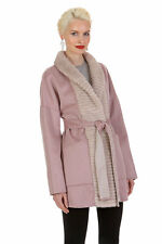 Guy Laroche Cashmere and Mink Jacket – Hazy Pink Reversible to Morning Beige