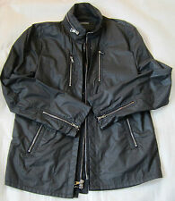 JOHN VARVATOS  black CARGO COAT JACKET overcoat   EU size 54 US 44