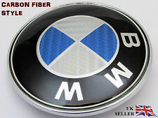 BMW E46 E60 E61 E81 E82 E87 E90 E91 E92 X5 BONNET BADGE CARBON LOGO EMBLEM 82mm