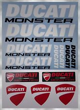 DUCATI MONSTER 400 659 696 1100 1200 R TANK FAIRING DECALS STICKERS SET