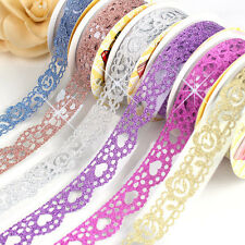5Pcs Lace Sticky Paper SELF-adhesive Washi Tape Sticker Scrapbooking Decorative