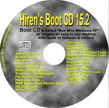 Hirens Boot CD 15.2  Dozens of utilities Repair Diagnose PC Laptop BOOT Recovery